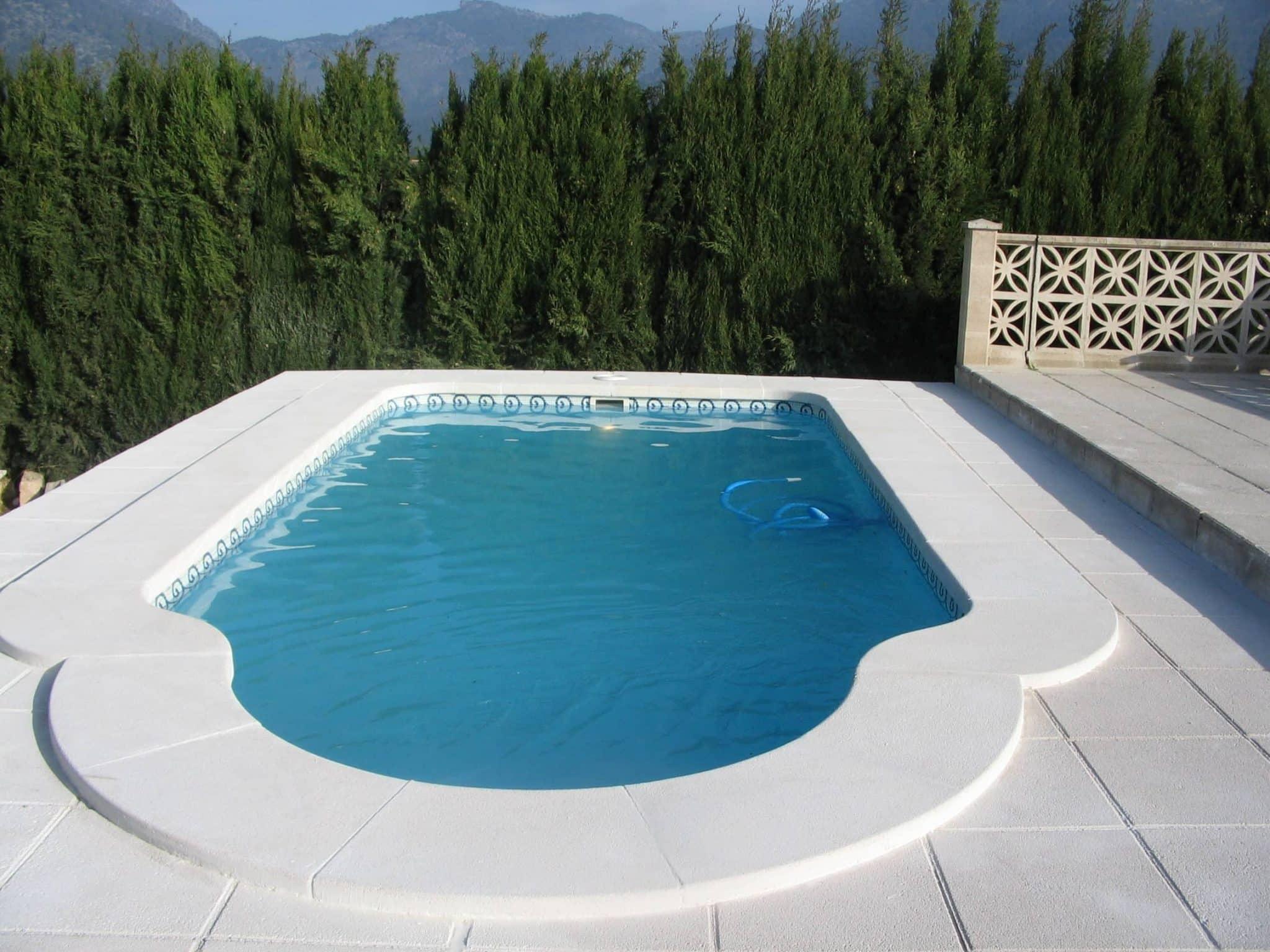 Piscina modelo c 6 piscinas cano poliester en valencia for Piscinas para enterrar precios